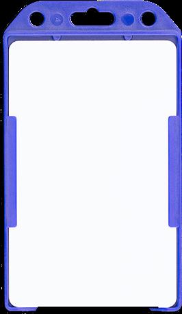 994a24b889c Harde open verticale badgehouder met blanco witte plastic badge in de houder
